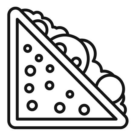 Sandwich icon, outline style