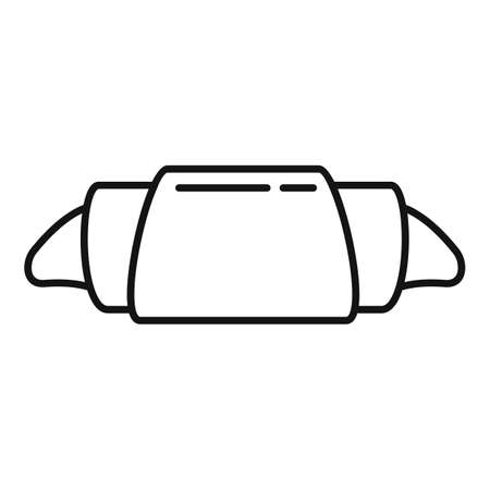 Croissant icon, outline style Иллюстрация