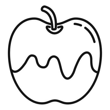 Honey apple icon, outline style