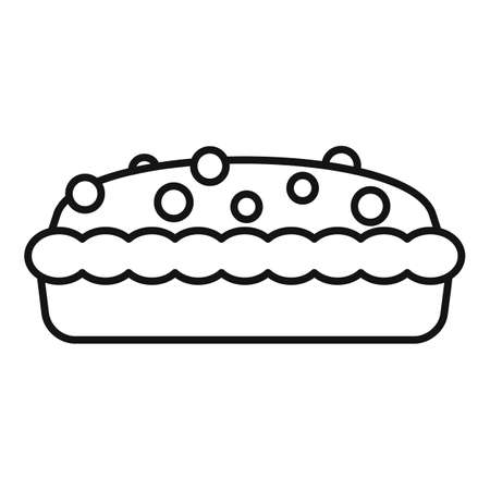 Berry cake icon, outline style