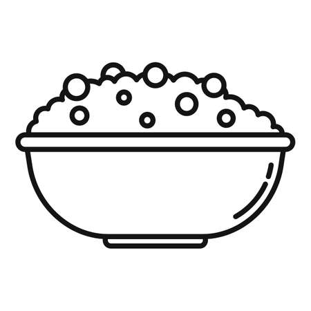 Rise bowl icon, outline style