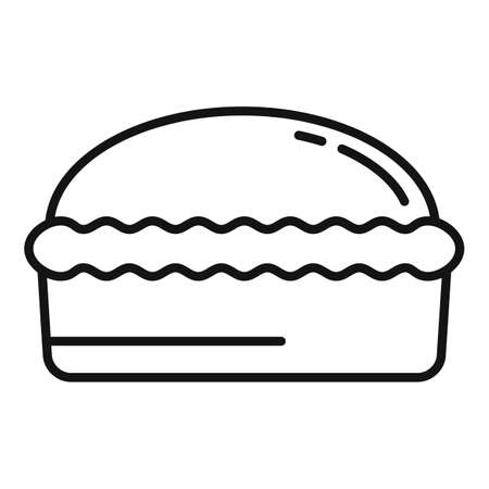 Homemade bread icon, outline style