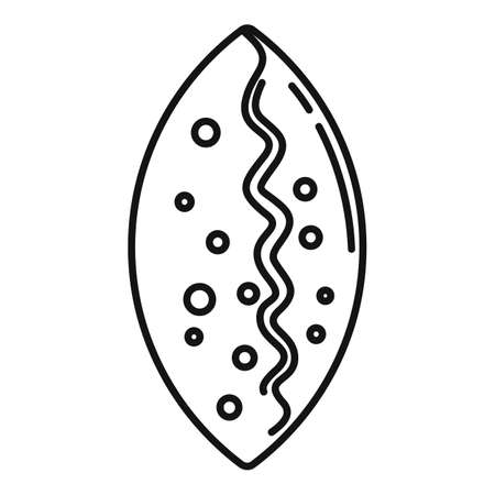 Patty icon, outline style
