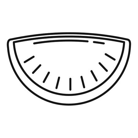 Cherry patty icon, outline style