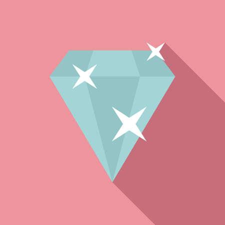 Bonus diamond icon, flat style