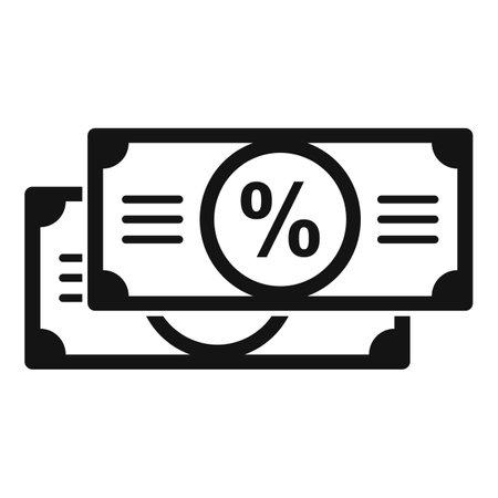 Sale bonus cash icon, simple style