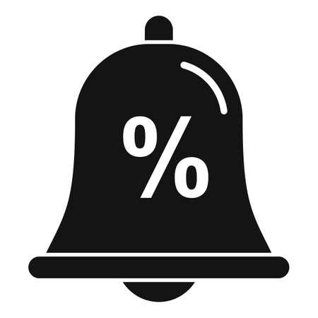Bonus bell icon, simple style Иллюстрация