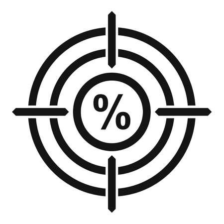 Bonus target icon, simple style Иллюстрация