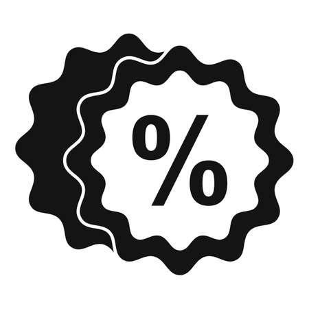 Bonus emblem icon, simple style