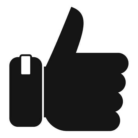Bonus thumb up icon, simple style Иллюстрация