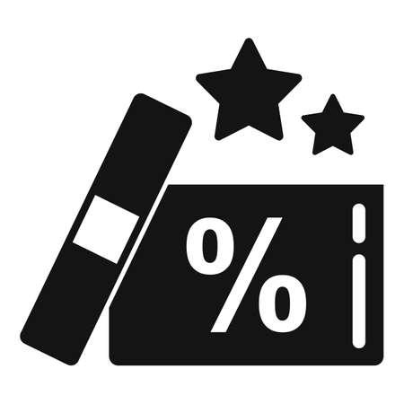Bonus gift box icon, simple style