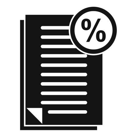 Bonus documents icon, simple style Иллюстрация