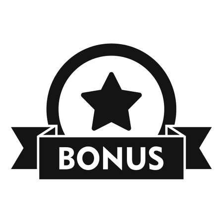 Bonus coin icon, simple style