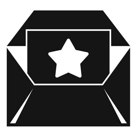 Bonus envelope icon, simple style