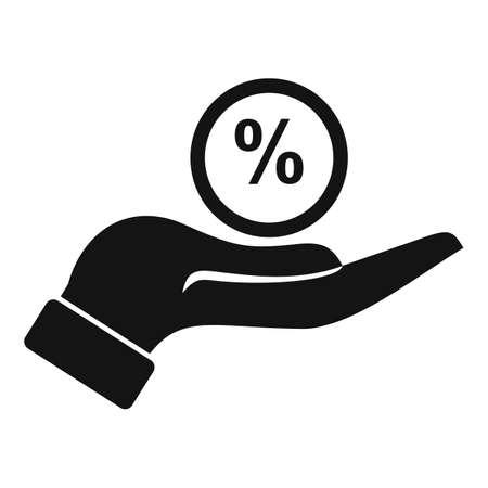 Bonus percent icon, simple style