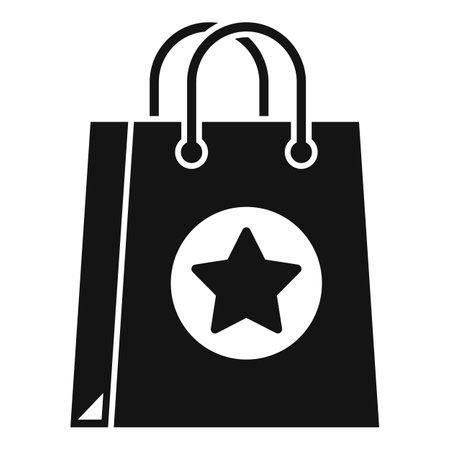 Sale bonus bag icon, simple style Иллюстрация