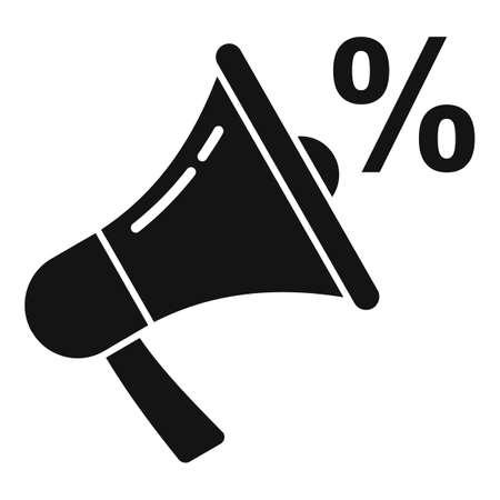 Sale bonus megaphone icon, simple style