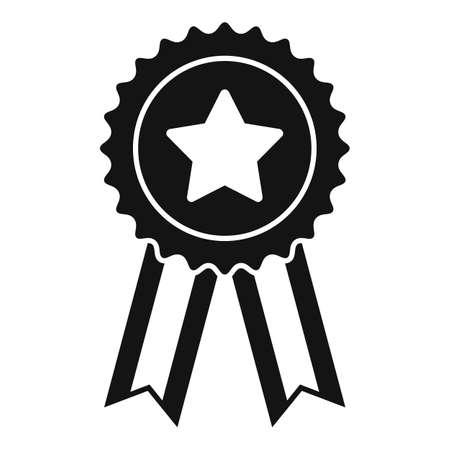 Sale bonus emblem icon, simple style