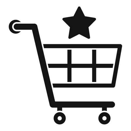 Sale bonus shop cart icon, simple style