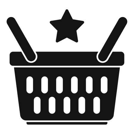 Sale bonus basket icon, simple style Иллюстрация