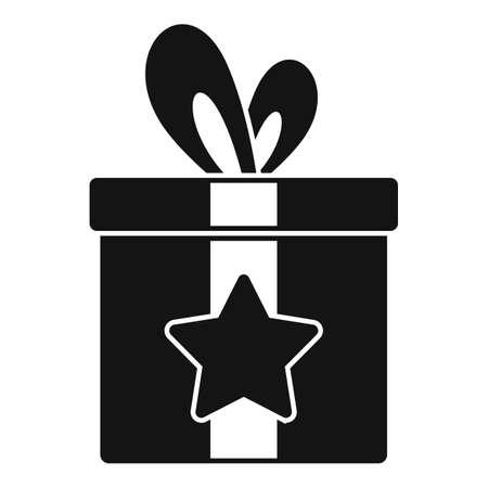 Sale bonus gift box icon, simple style