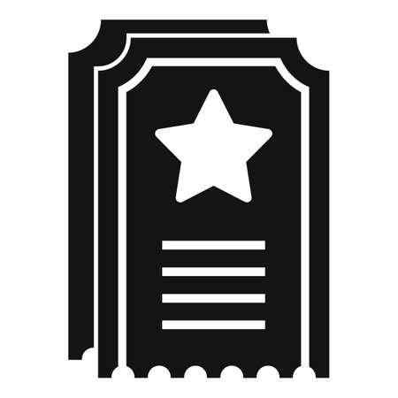 Sale bonus ticket icon, simple style Иллюстрация