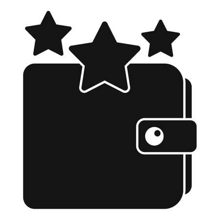 Sale bonus star wallet icon, simple style Иллюстрация