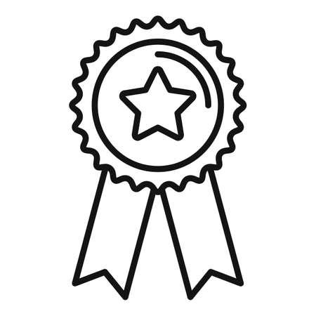 Sale bonus emblem icon, outline style Иллюстрация