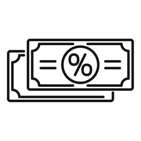 Sale bonus cash icon, outline style