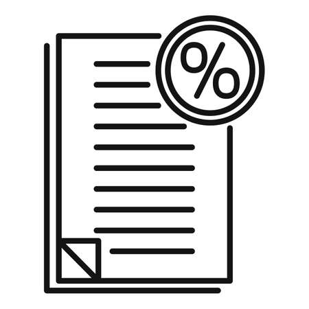Bonus documents icon, outline style