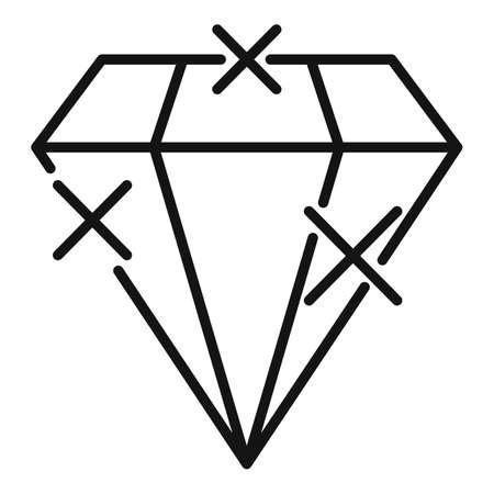 Bonus diamond icon, outline style