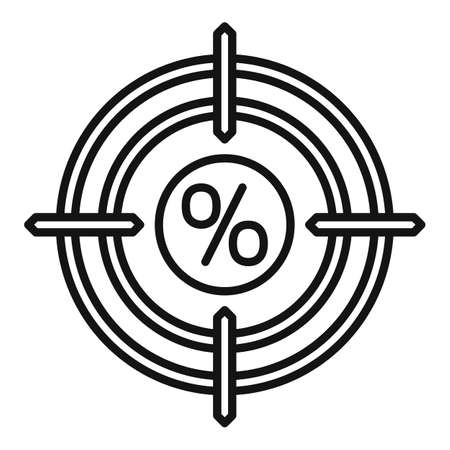 Bonus target icon, outline style