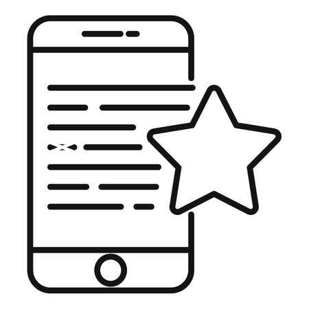 Bonus smartphone icon, outline style
