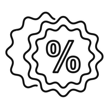 Bonus emblem icon, outline style