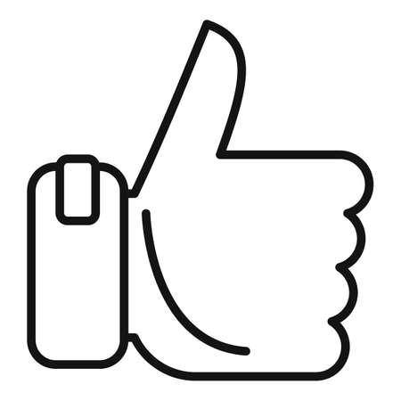 Bonus thumb up icon, outline style