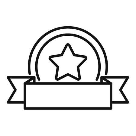 Bonus coin icon, outline style