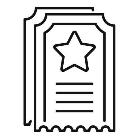 Sale bonus ticket icon, outline style
