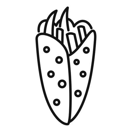 Greece food icon, outline style