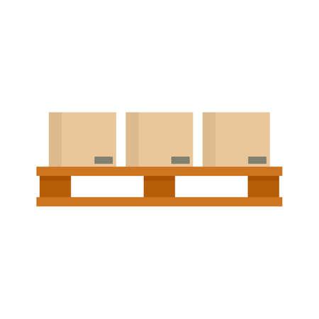 Full pallet box icon flat isolated vector Vecteurs