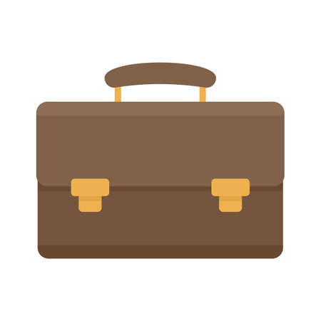 Leather case icon flat isolated vector
