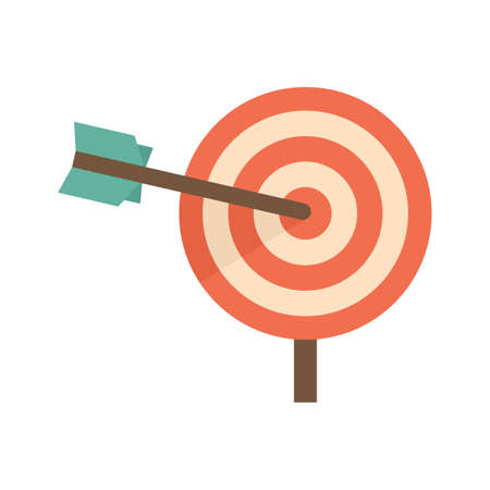 Company business target icon flat isolated vector