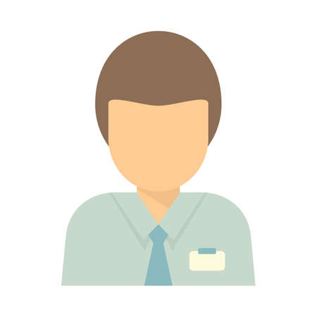 Office manager icon flat isolated vector Ilustração