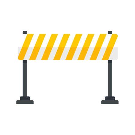 Road barrier line icon flat isolated vector Ilustração Vetorial