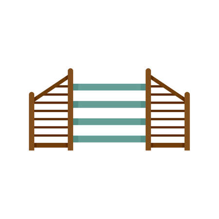 Dog training barrier icon flat isolated vector Vecteurs