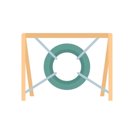 Dog tire obstacle icon flat isolated vector