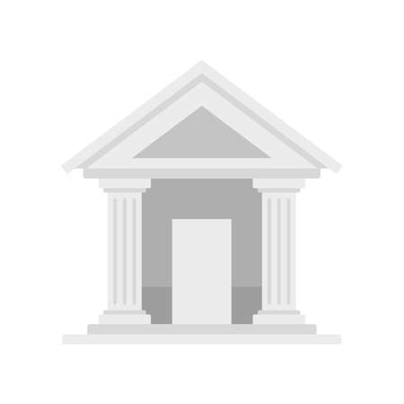 Swiss bank building icon flat isolated vector