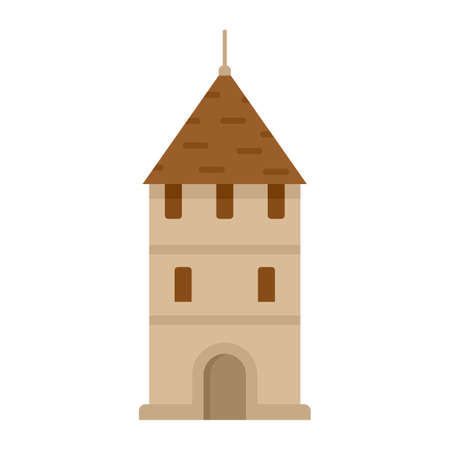 Swiss tower icon flat isolated vector