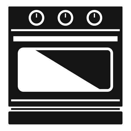 Convection stove icon simple vector. Electric oven