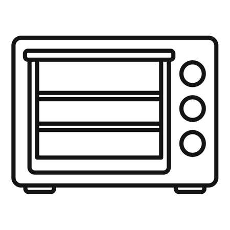 Turbo convection oven icon outline vector. Electric grill stove
