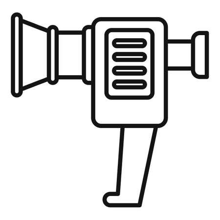 Broken handle camera icon outline vector. Video camcorder